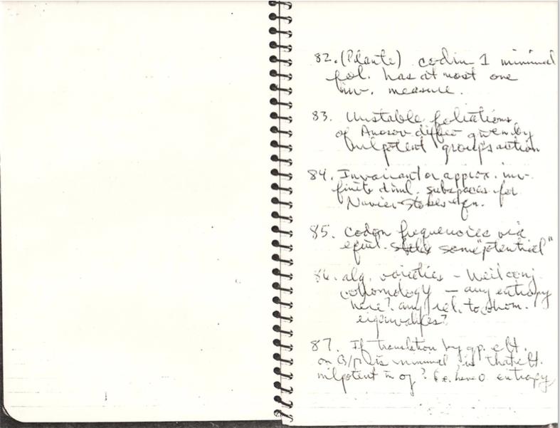 Problem 84   Rufus Bowen's Notebook